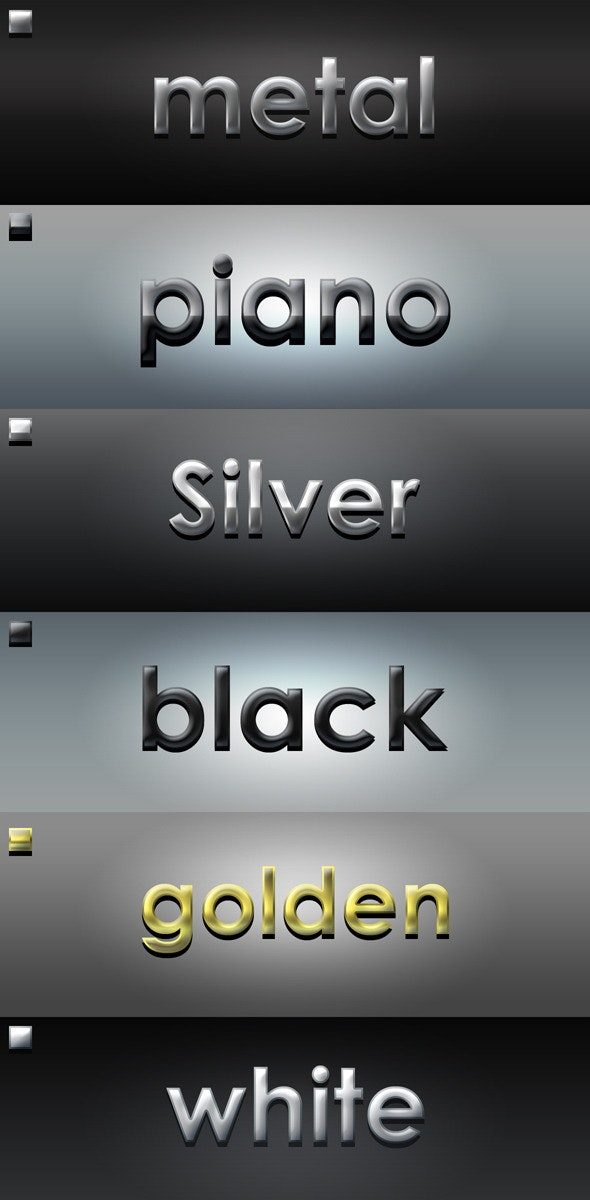 Styles Pack 2 - Text Effects Styles