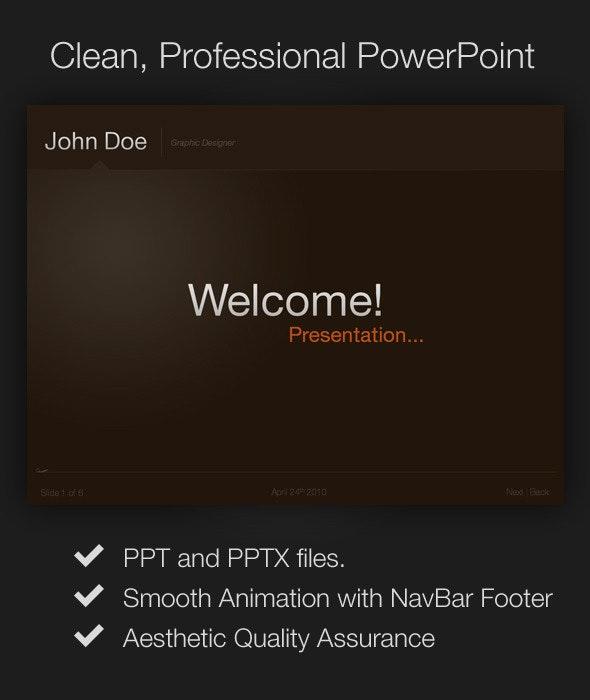 Clean, Professional Presentation - PowerPoint Templates Presentation Templates
