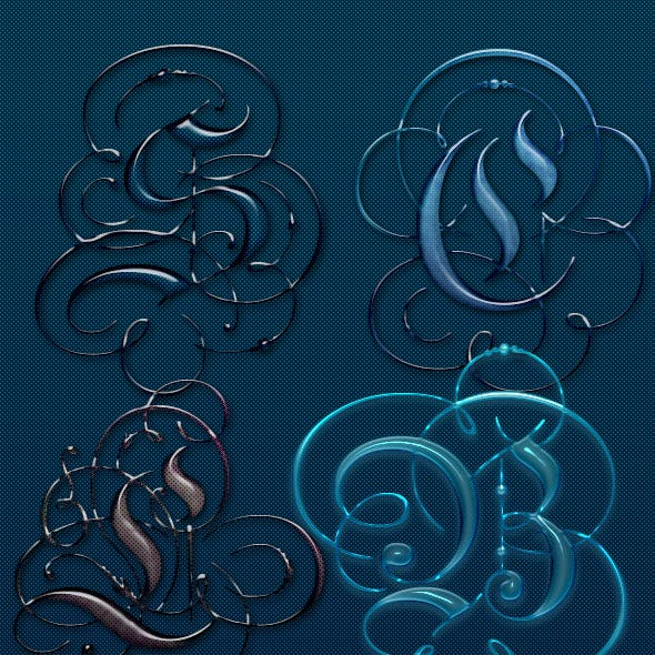 Beautiful Glass Text Effects and Style