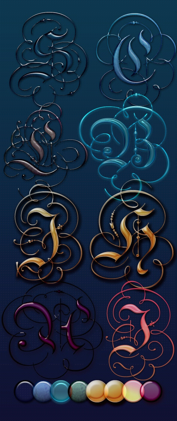 Beautiful Glass Text Effects and Style - Photoshop Add-ons