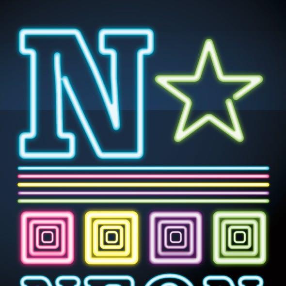 Neon Illustrator Graphic Style