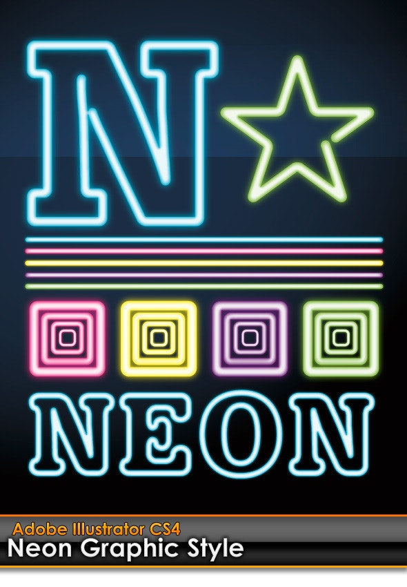 Neon Illustrator Graphic Style