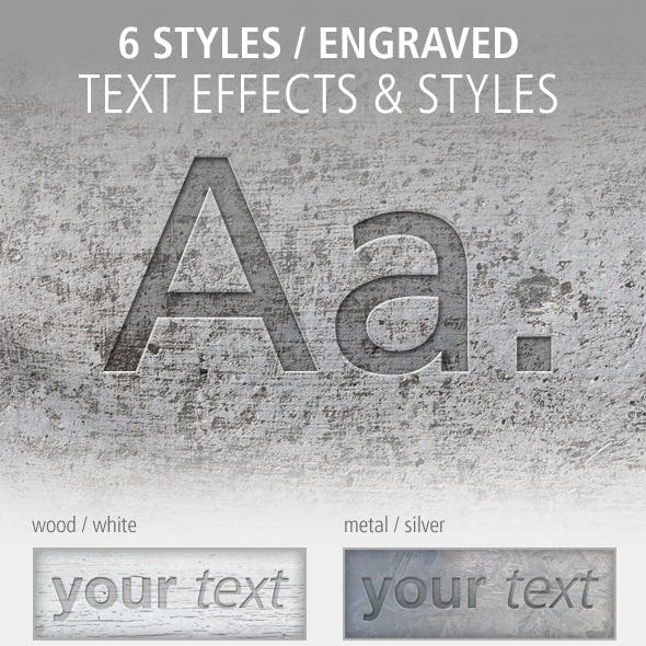 6 Text Effects and Styles: Engraved