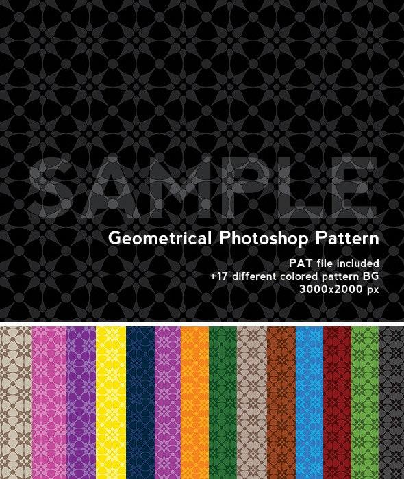 Photoshop Pattern - geometrical Pattern - Photoshop Add-ons