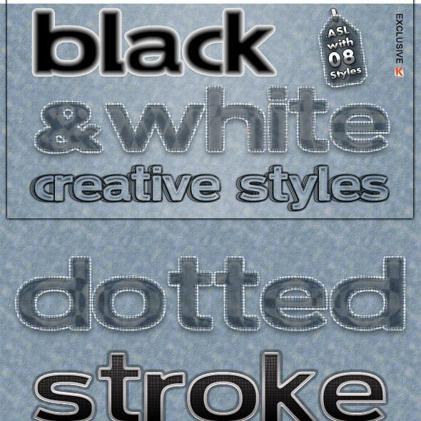 Black & White Creative Text Styles