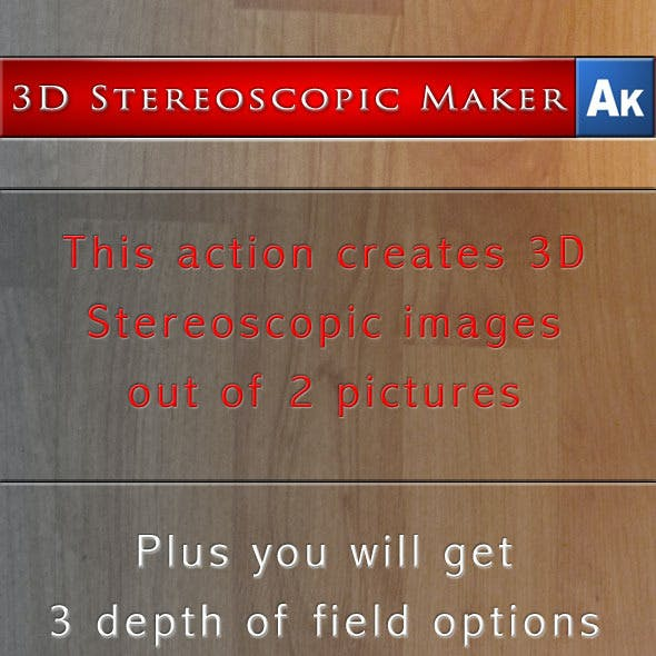 3D Stereoscopic Maker - Adobe Photoshop Action