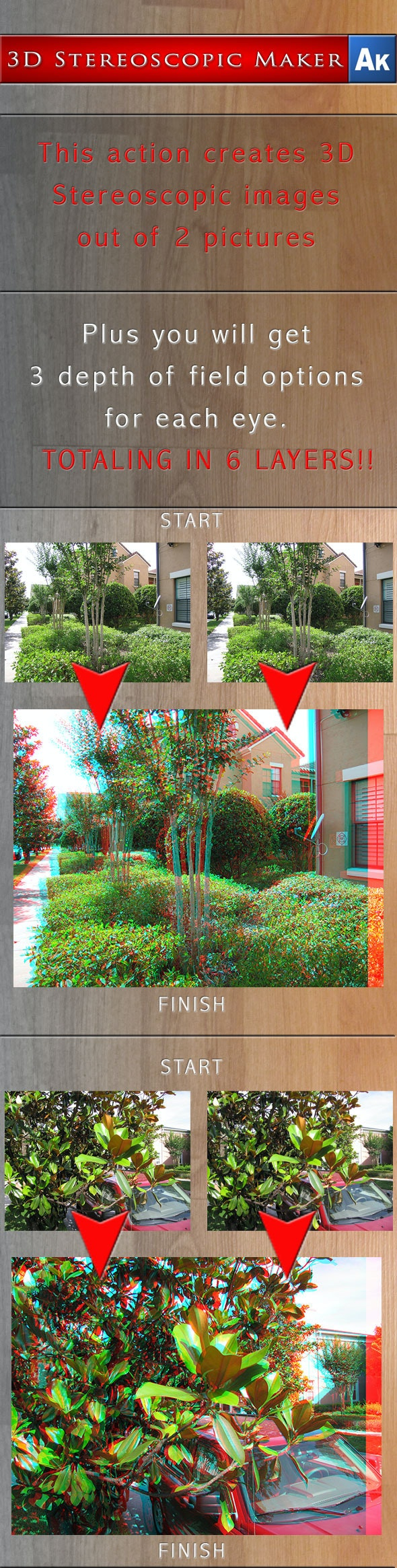 3D Stereoscopic Maker - Adobe Photoshop Action - Photoshop Add-ons