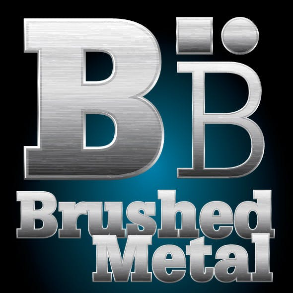 Brushed Metal Illustrator Graphic Style