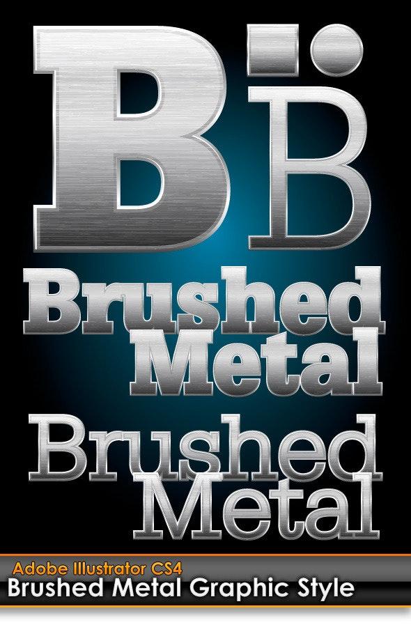 Brushed Metal Illustrator Graphic Style - Styles Illustrator