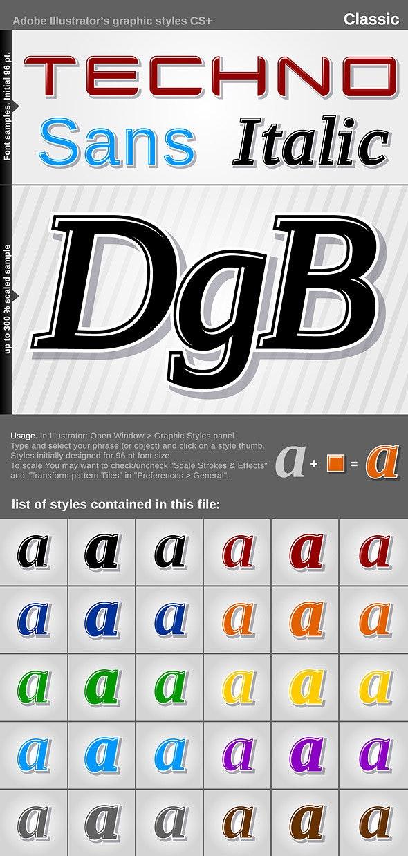 Illustrator Graphic Styles - Classic - Styles Illustrator