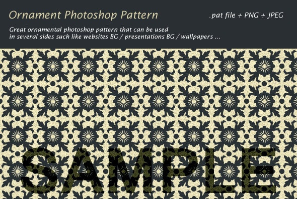 Ornament Photoshop Pattern - Textures / Fills / Patterns Photoshop