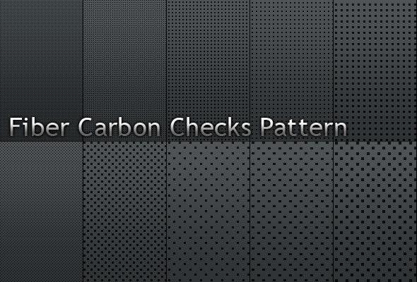Fiber Carbon Checks Pattern - Vol.1 - Textures / Fills / Patterns Photoshop