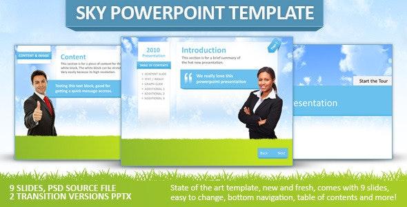 Fresh Sky Powerpoint Template - PowerPoint Templates Presentation Templates
