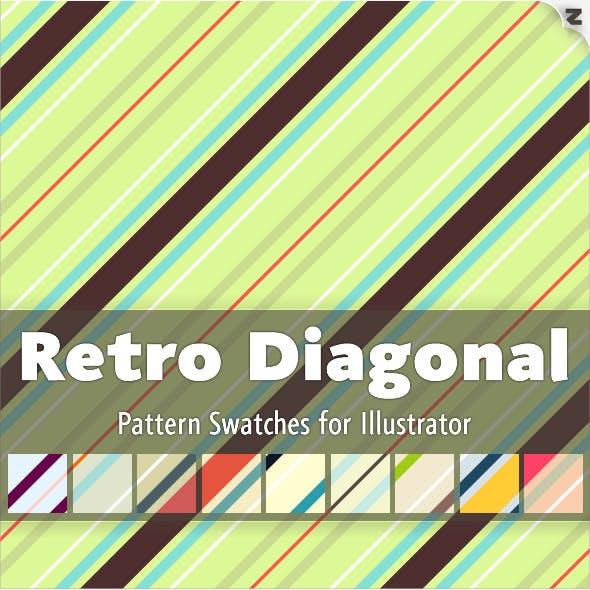 Retro Diagonal Pattern Swatches