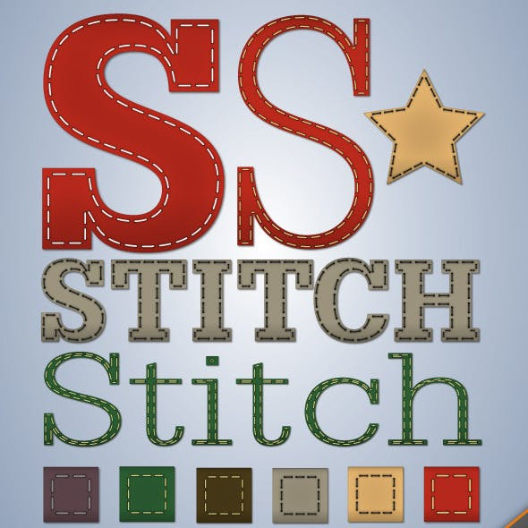 Stitching Illustrator Graphic Style