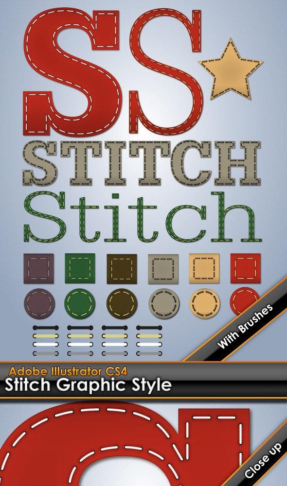Stitching Illustrator Graphic Style - Styles Illustrator