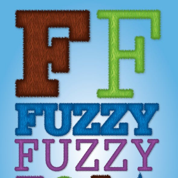 Fuzzy / Furry Illustrator Graphic Style