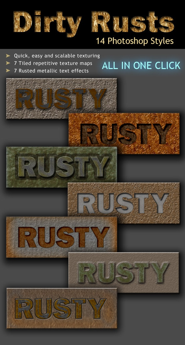 Dirty Rusted Metal - Text Effects Styles