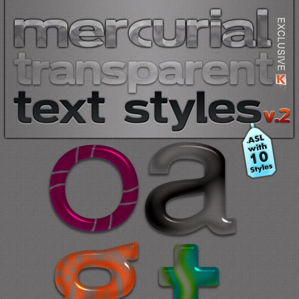 Mercurial Transparent Text Styles V.2