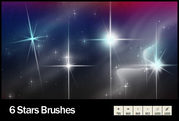 6 Star Brushes - Abstract Brushes