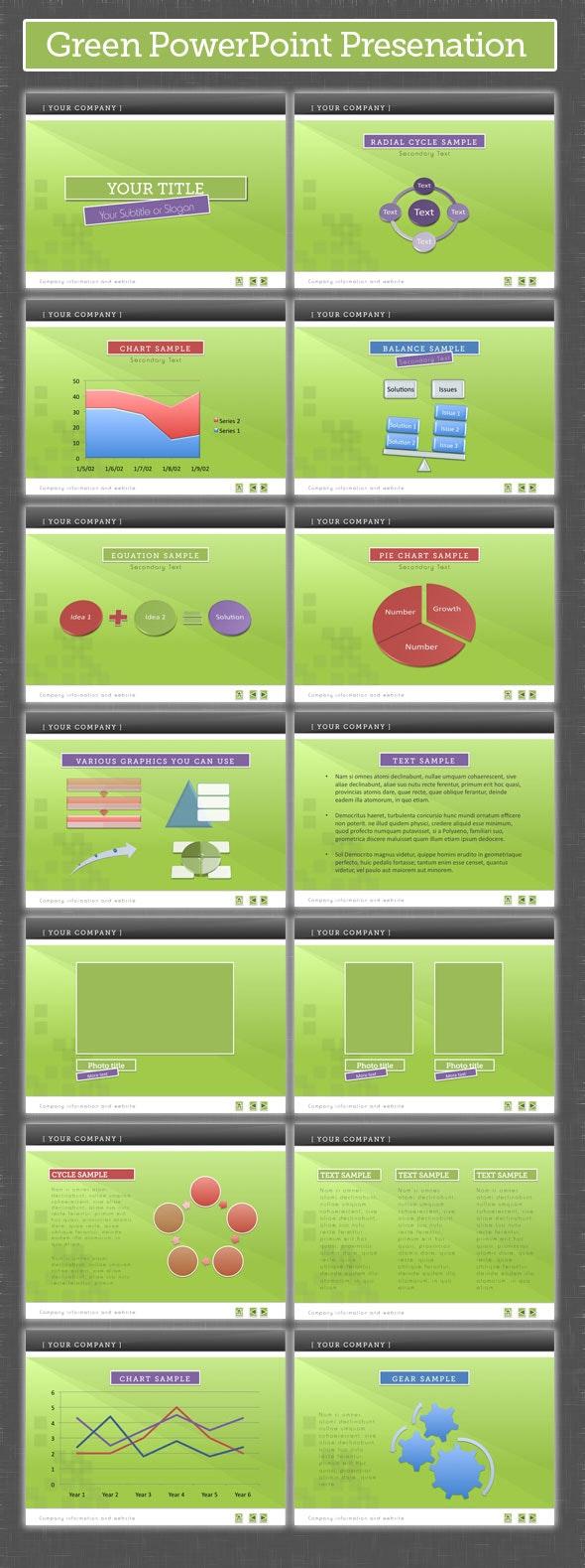 Green PowerPoint Presentation - PowerPoint Templates Presentation Templates