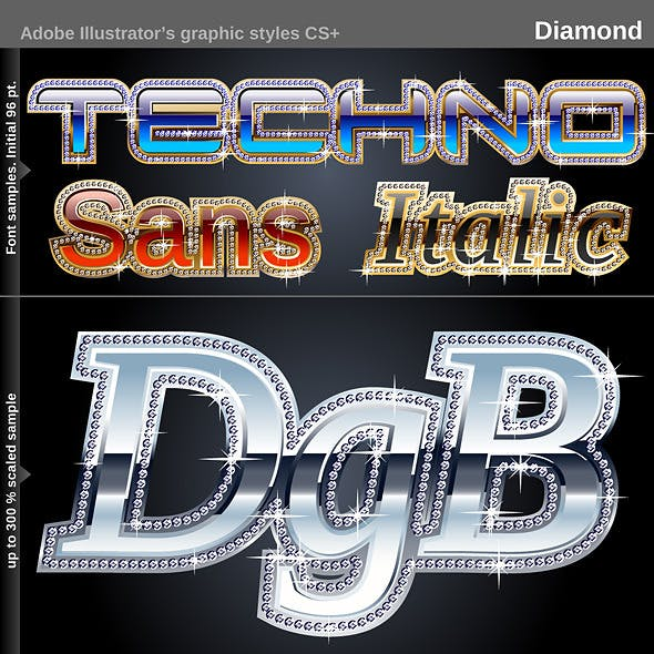 Illustrator Graphic Styles - Diamond