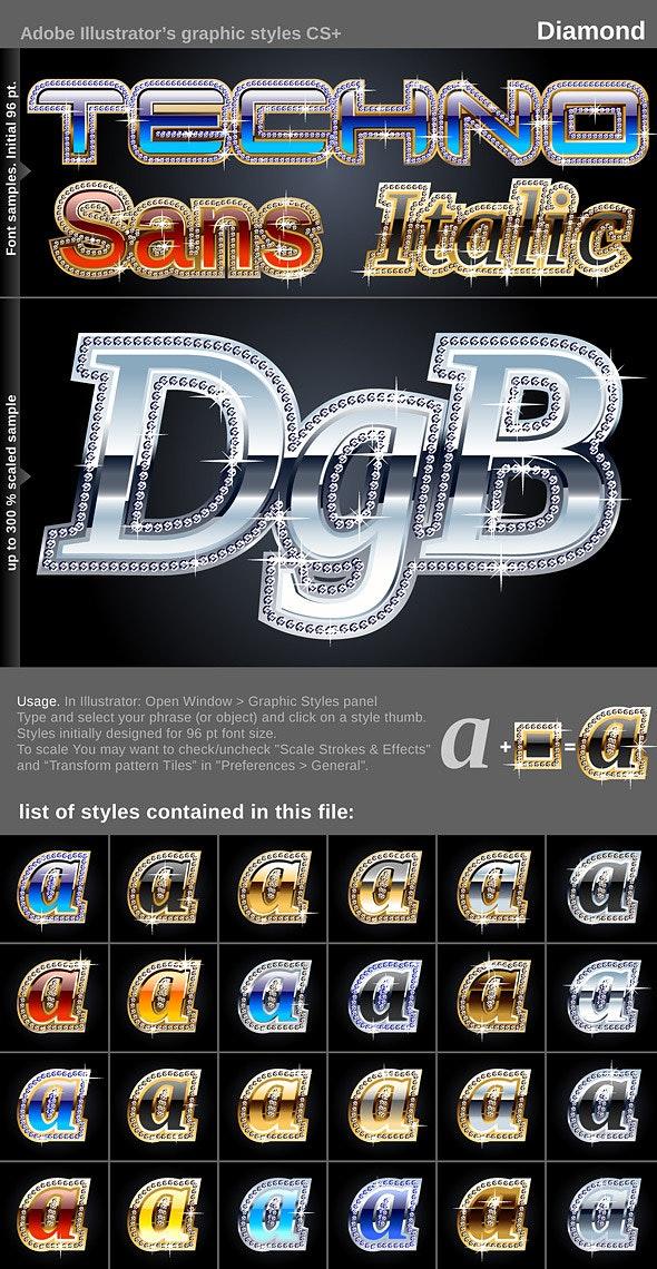 Illustrator Graphic Styles - Diamond - Styles Illustrator