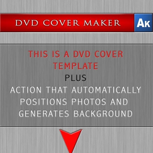 DVD Cover Maker with Photoshop Action
