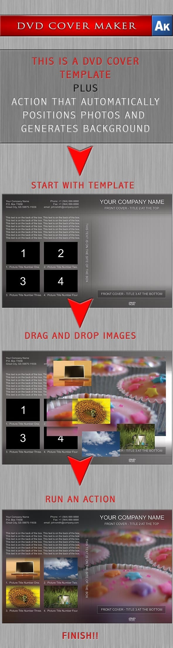 DVD Cover Maker with Photoshop Action - Utilities Actions