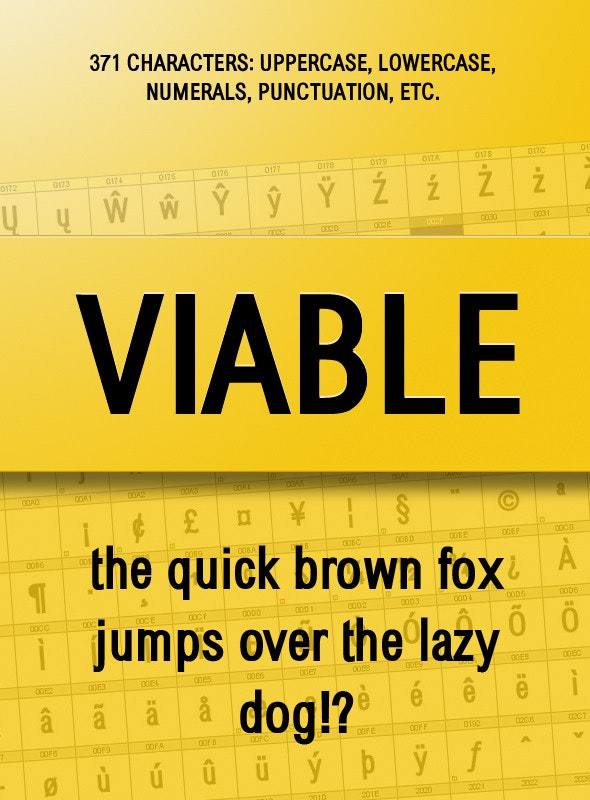 Viable Sans Serif Font - Sans-Serif Fonts