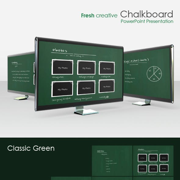"Fresh creative ""Chalkboard"" presentation"