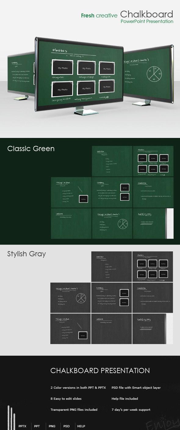 "Fresh creative ""Chalkboard"" presentation - PowerPoint Templates Presentation Templates"