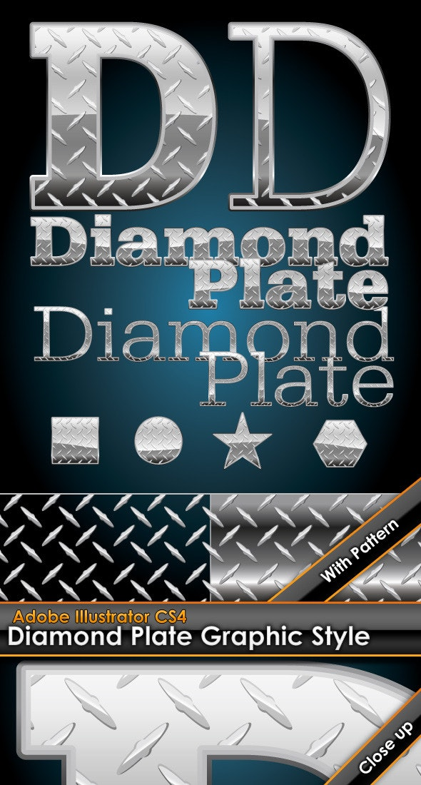 Diamond Plate Illustrator Graphic Style & Pattern - Styles Illustrator