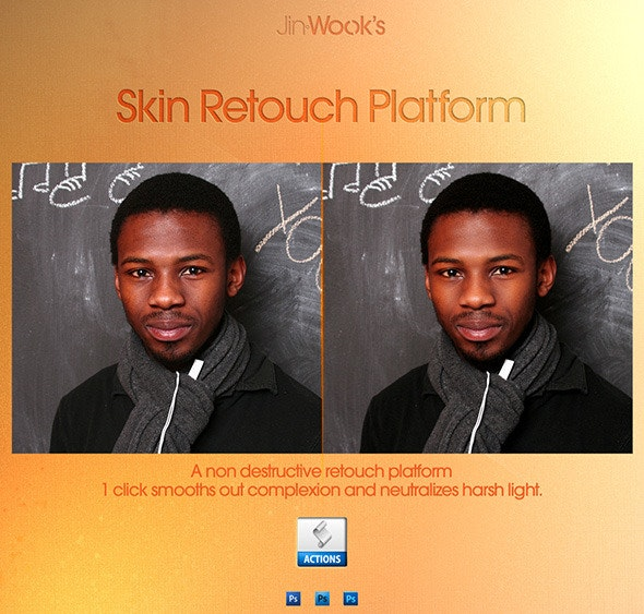 JinWook's Skin Retouch Platform - Photo Effects Actions