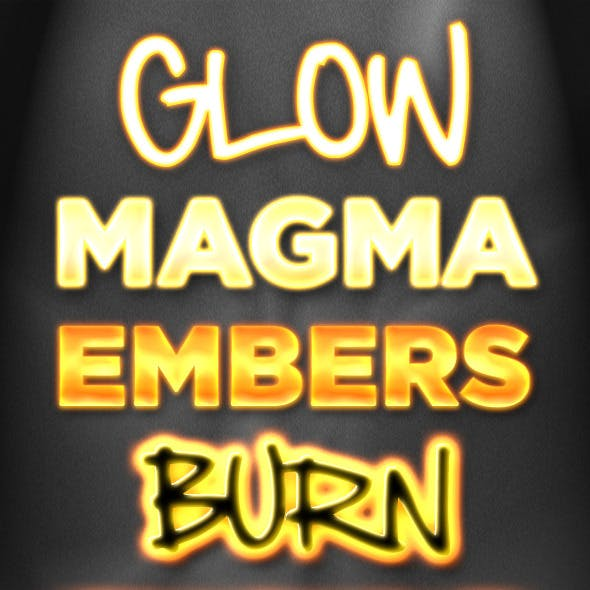 5 Fire and Glow Styles - Flame, Neon, and Burning
