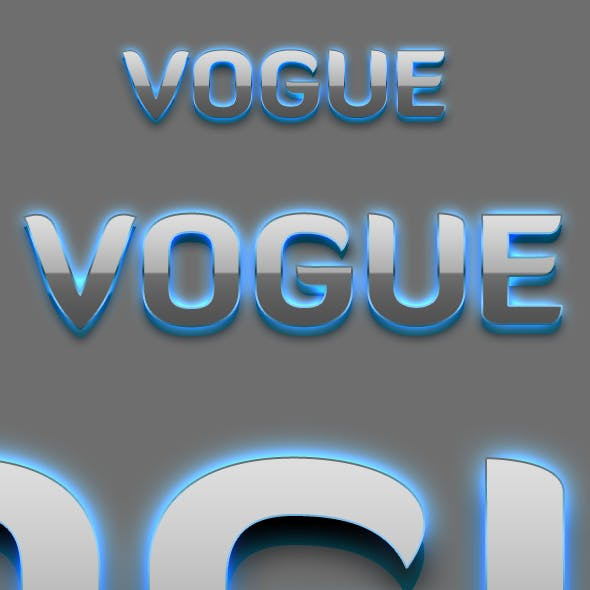 Vogue - 3D Text Styles