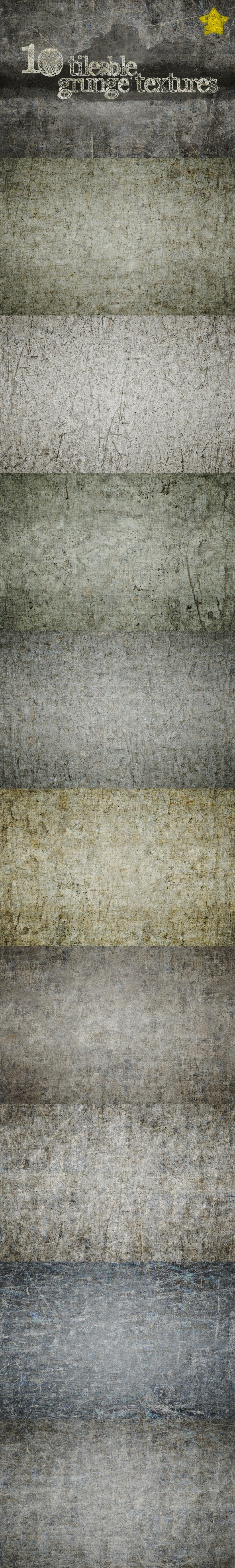 10 Tileable Grunge Textures  - Miscellaneous Textures / Fills / Patterns