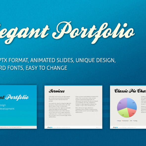Elegant Portfolio Presentation Template