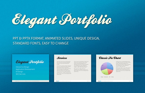 Elegant Portfolio Presentation Template - PowerPoint Templates Presentation Templates