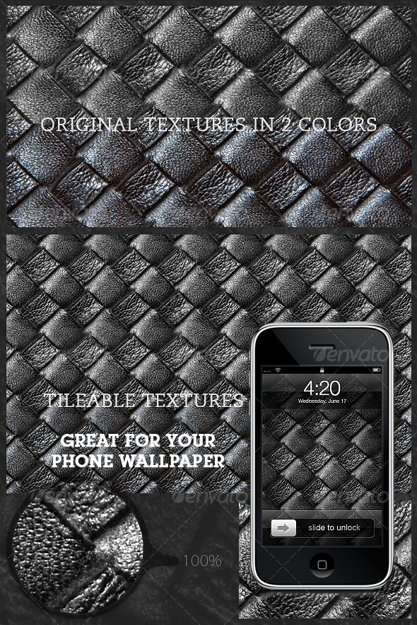 Tileable Leather: Woven Texture 3.0 - Textures / Fills / Patterns Photoshop