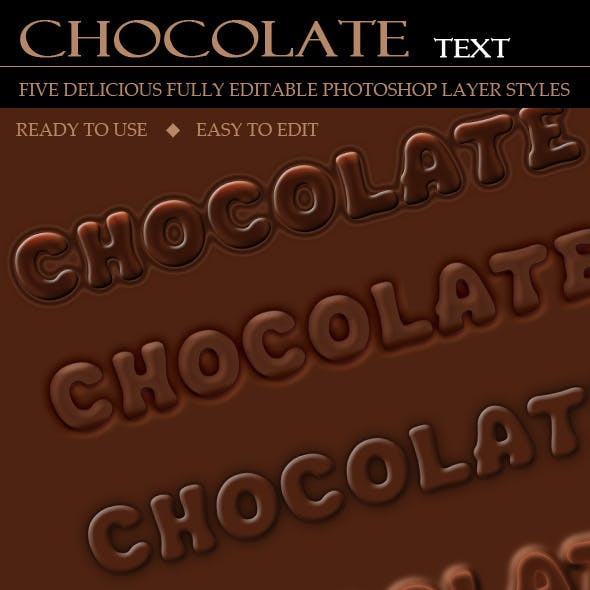 Delicious Chocolate Text (5 Layer Styles)
