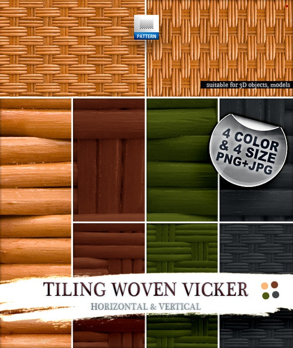 Tiling Woven Vicker - Miscellaneous Textures / Fills / Patterns