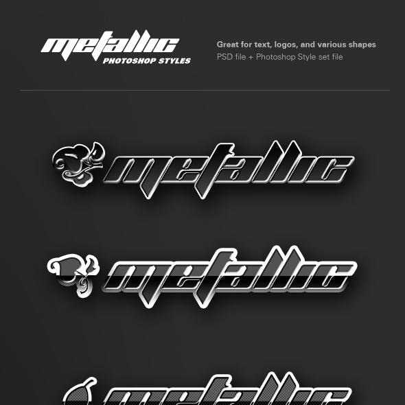 Metallic Chrome Photoshop Styles