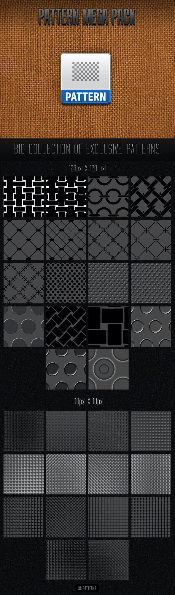 Patterns Mega Pack - Abstract Textures / Fills / Patterns