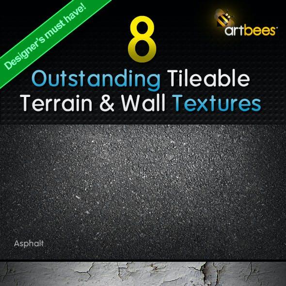 8 Tileable Terrain & Wall Textures