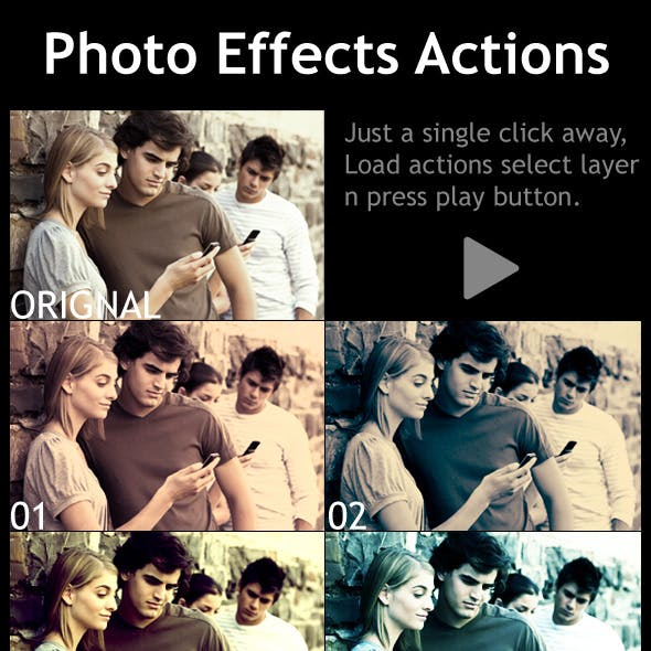 Photo Effects Actions
