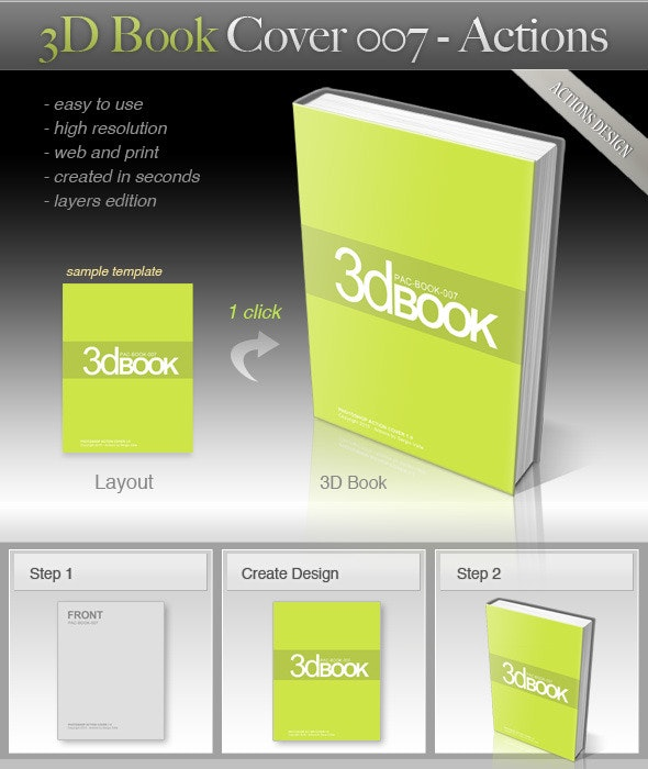 3D Book Cover 007 - Utilities Actions
