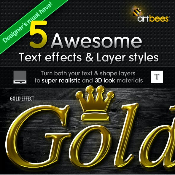 5 Text Effects & Layer Styles