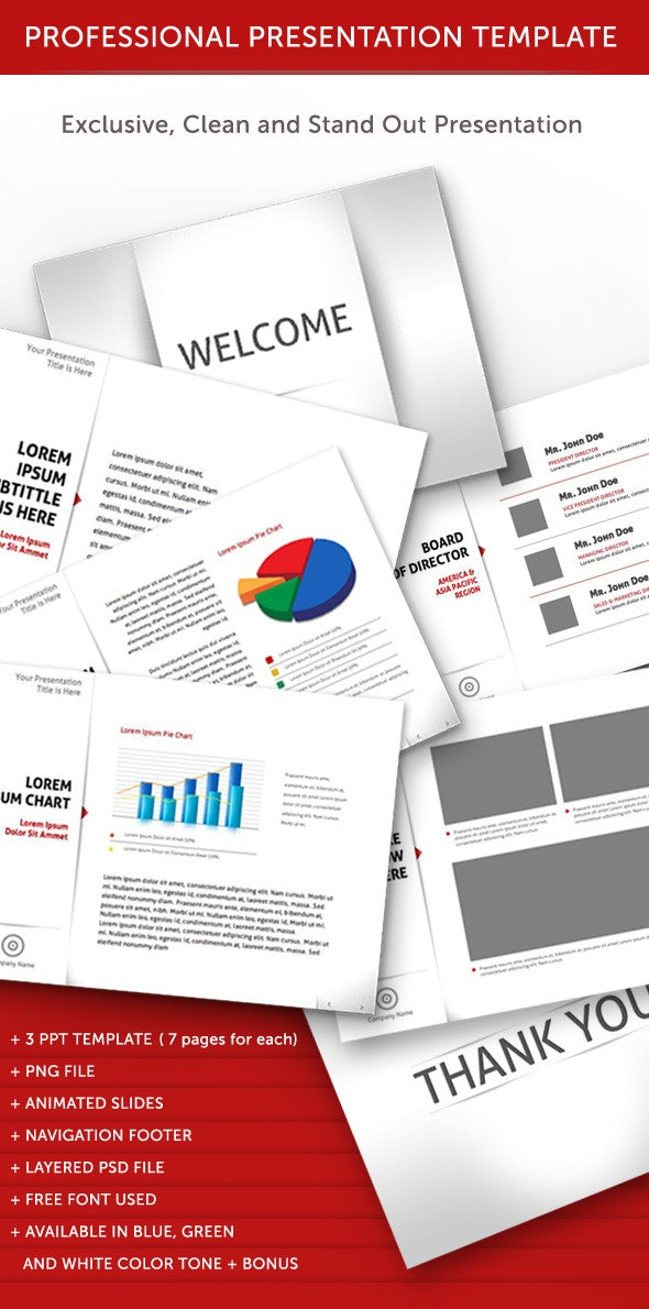 Professional Animated Power Point Template - PowerPoint Templates Presentation Templates