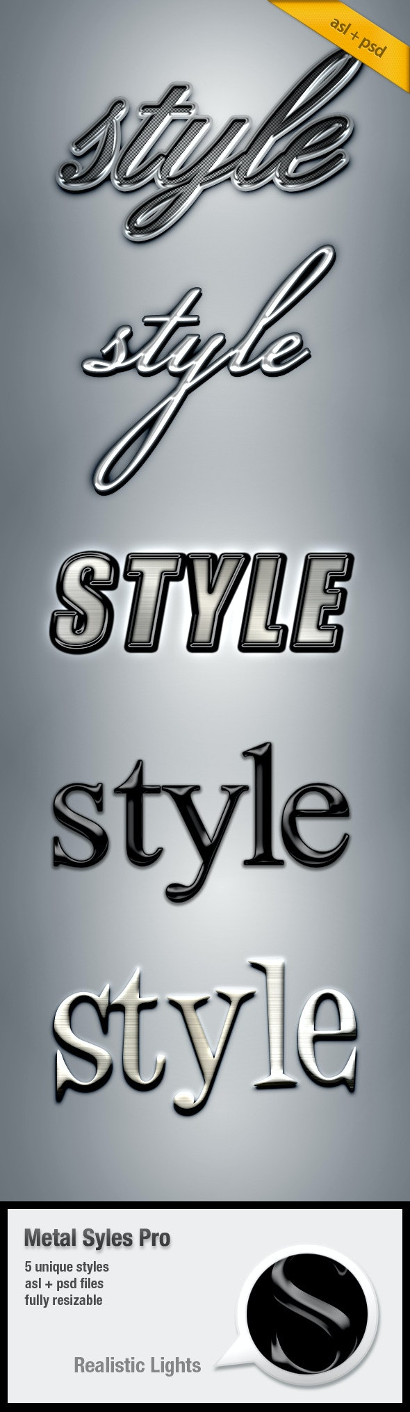 Metal Text Styles Pro - Text Effects Styles